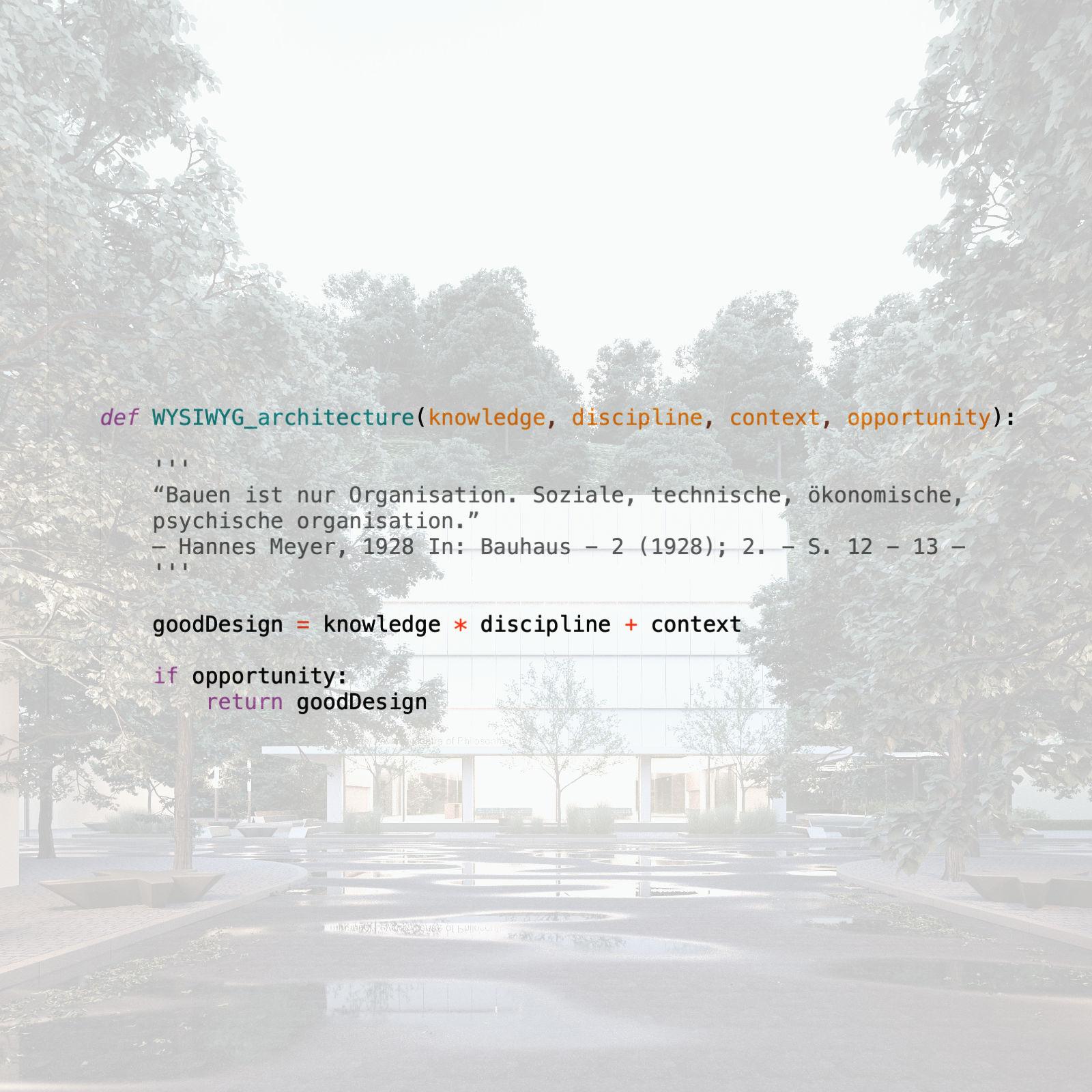 WYSIWYG architecture